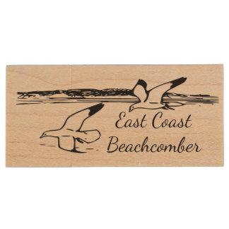 Beach East Coast Beachcomber flash drive 128 gb Wood USB 3.0 Flash Drive