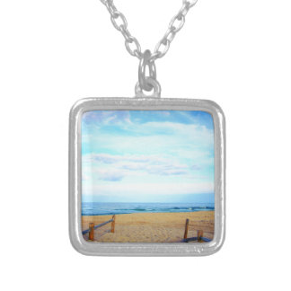 Beach Entrance Silver Plated Necklace
