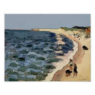 Beach, Fauvism Poster