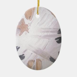 Beach Feet Ceramic Oval Ornament