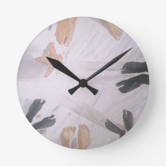 Beach Feet Round Clock