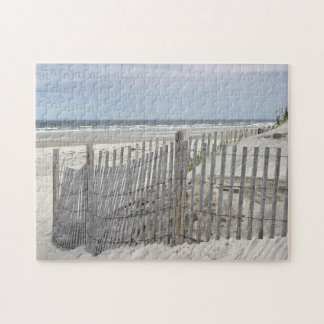 Beach fence and sand dune at the beach jigsaw puzzle