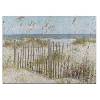 Beach Fence Glass Cutting Board
