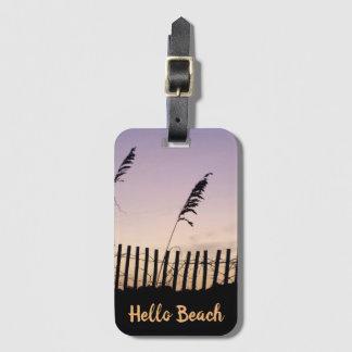 Beach Fence Luggage Tag