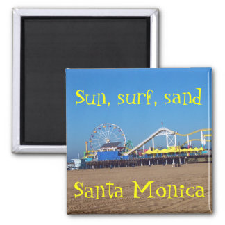 Beach Ferris Wheel Santa Monica, California Pier Magnet