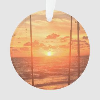 Beach Fishing Ornament