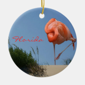 Beach Flamingo Florida Ornament