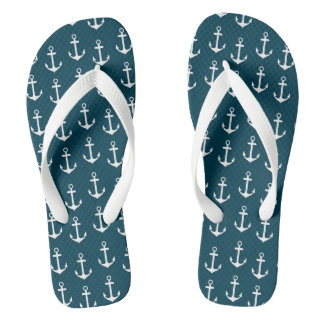Beach flip flop anchor pattern