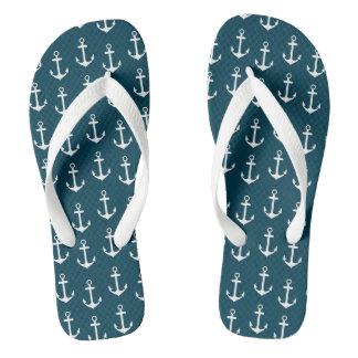 Beach flip flop anchor pattern flip flops