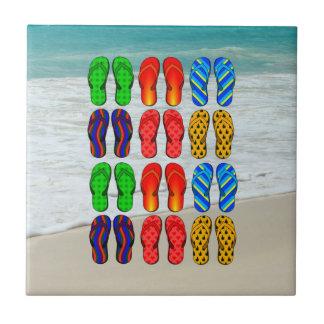 Beach Flip-Flops, Vacation Fun Tiles