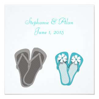 Beach Flip Flops Wedding Invitation