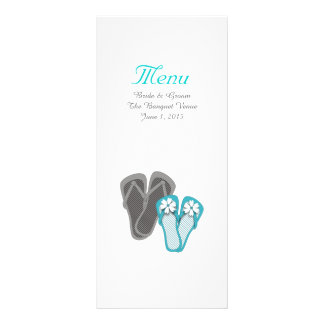 Beach Flip Flops Wedding Menu