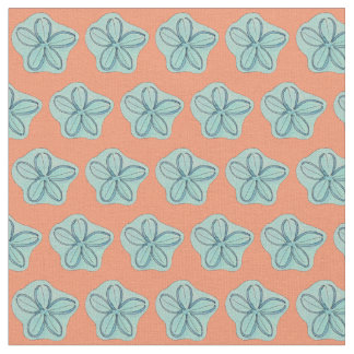 Beach Floral Pattern Fabric