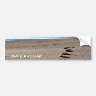 Beach Footsteps Bumper Stickers