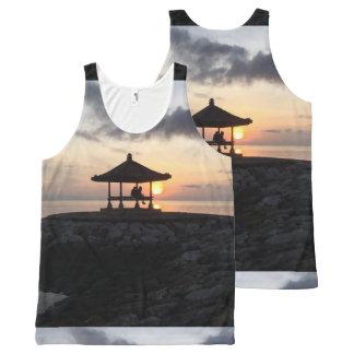 Beach for a Bali Sunrise All-Over-Print Tank Top