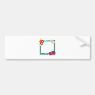 Beach Frame Bumper Sticker