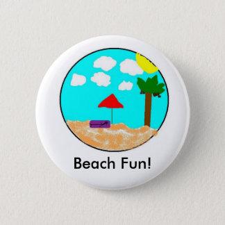 Beach Fun! 2 Inch Round Button