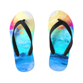 Beach Fun  - Kids Kid's Flip Flops