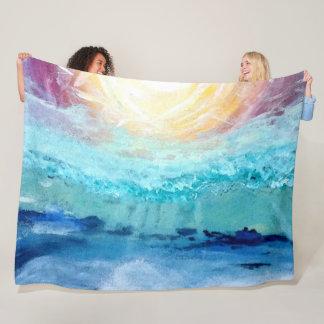 Beach Fun!  Large Fleece Blanket