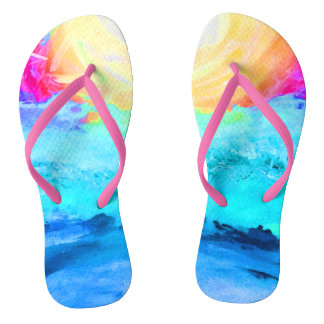 Beach Fun Slim Strap - Adult Flip Flops