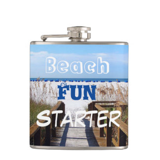 Beach Fun Starter Hip Flask