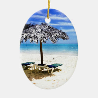 Beach Gifts Ceramic Oval Ornament