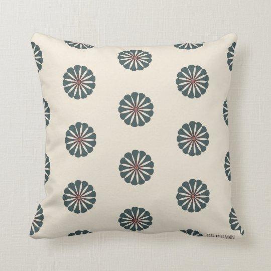 Beach Girls slate flower Geo pillow 2