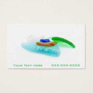 Beach Glass Lake Michigan, Colorful Shards Business Card