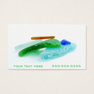 Beach Glass, Lake Michigan Tumbled Colorful Shards Business Card