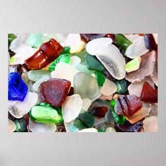 Beach Glass Poster