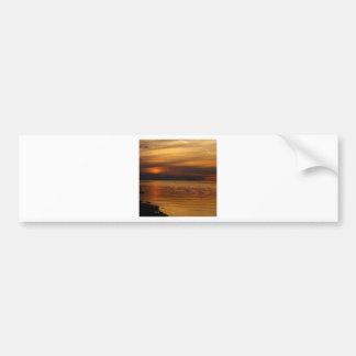 Beach Golden Sunset Bumper Stickers