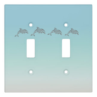 Beach Gradient Dolphins Light Switch Cover