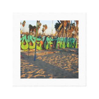 Beach graffiti canvas print
