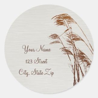 Beach Grass Address Sticker