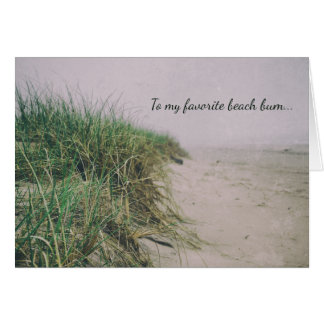 Beach Grass Sand Dunes Sandy Happy Birthday Card