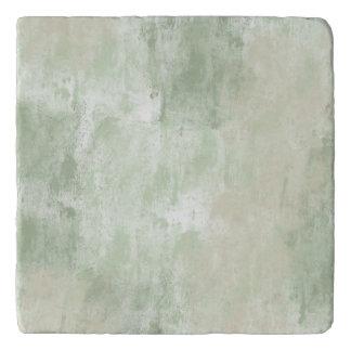 Beach Green Cream Sand abstract Trivet
