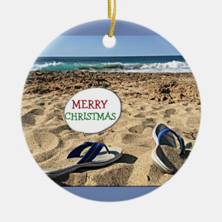 **BEACH GREETING** CHRISTMAS ORNAMENT