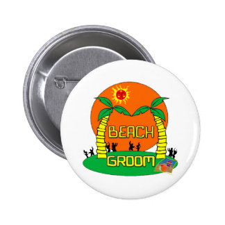Beach Groom Button