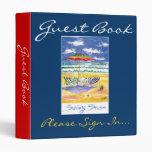 Beach Guest book 3 Ring Binders