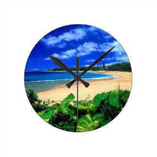 Beach Haena Kauai Hawaii Wallclocks