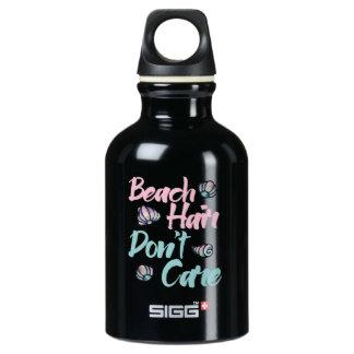 beach hair dont care shells water bottle