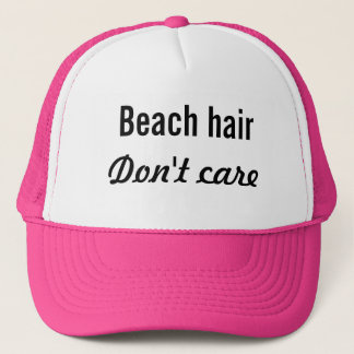 Beach Hair, Don't Care Trucker Hat
