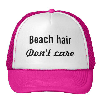 Beach Hair, Don't Care Trucker Hat