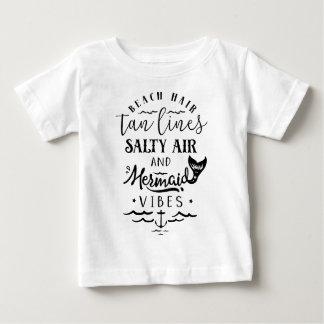 Beach Hair, Tan Lines, Salty Air, & Mermaid Vibes Baby T-Shirt