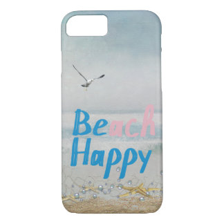 Beach Happy starfish and seagull iPhone 8/7 Case