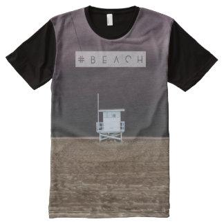 Beach hashtag tshirt