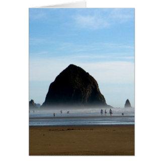 beach haze greeting card