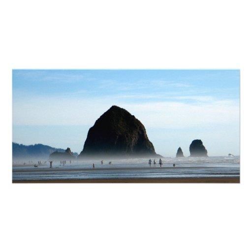 beach haze custom photo card