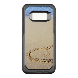 Beach Heart Monogram Personalized OtterBox Commuter Samsung Galaxy S8 Case