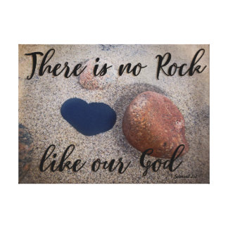 Beach Heart Rock Inspirational Verse Canvas Art